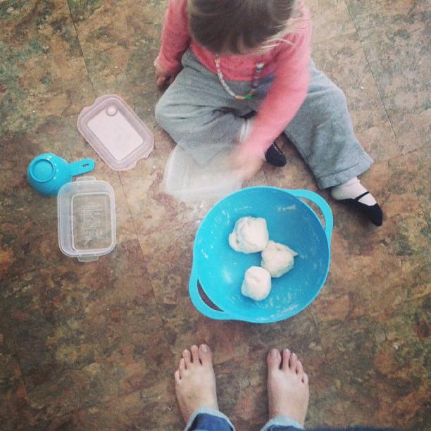 we made salt play dough