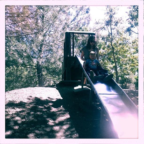 Big slide! Strawberry Creek Park w/ @maggielindsey