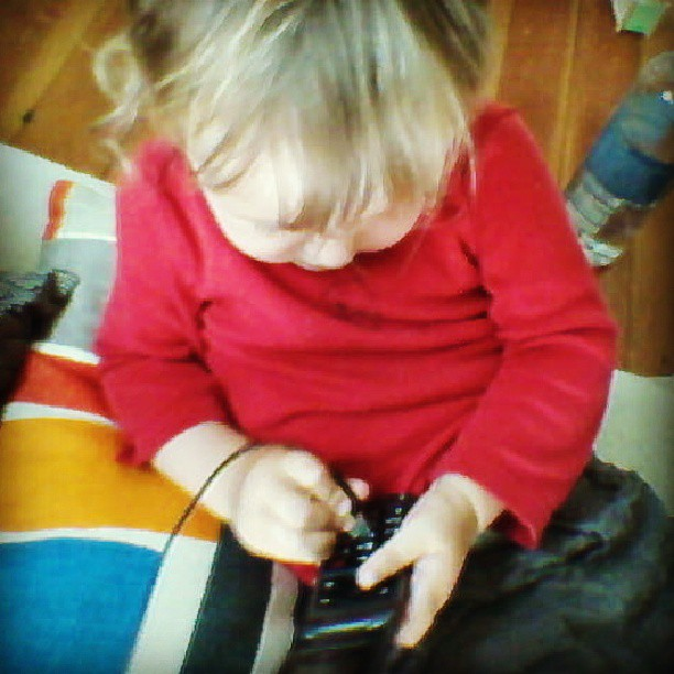 She loves electronics