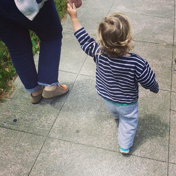 Walking to the park with @ewizabiz