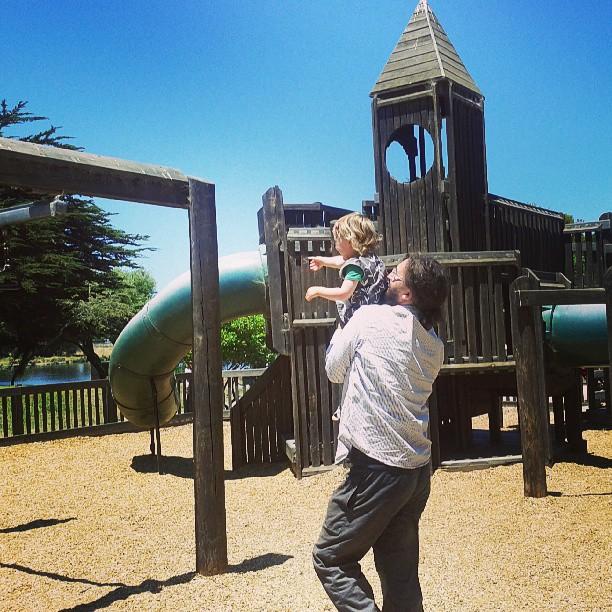 Aquatic castle playground