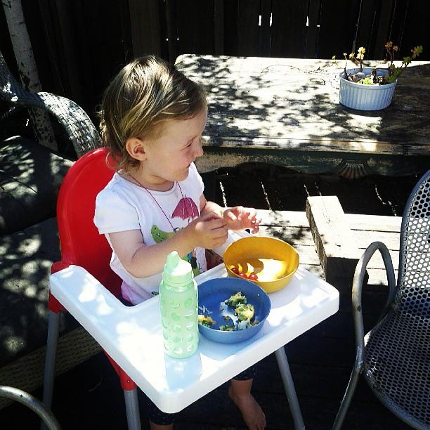 Eating outside!