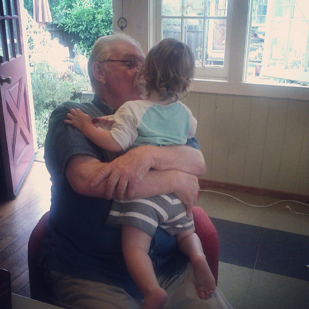 w/ GPA (in her first pair of shorts **from aunt Joan)