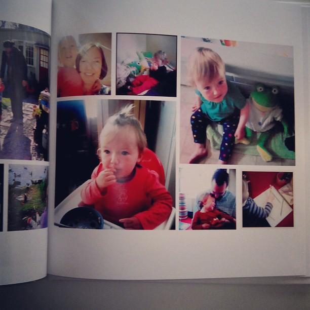 Book for Emma, made up of instagram photos