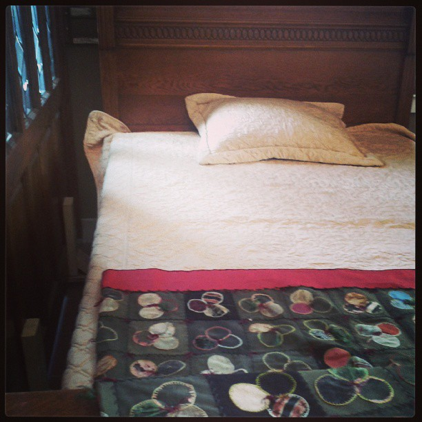 A lovely bed at Ohmega Salvage