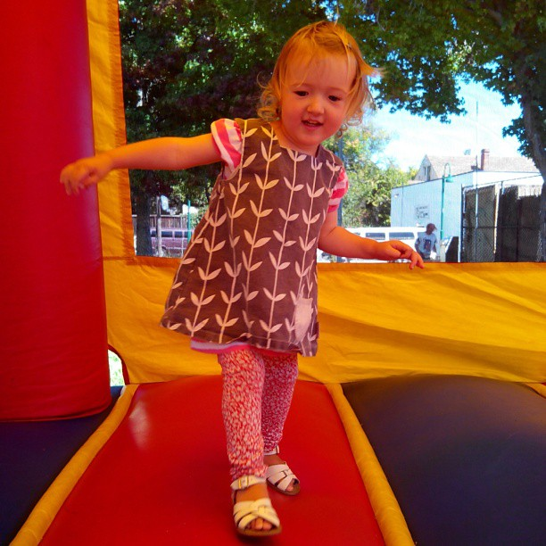 Emma's first bounce house