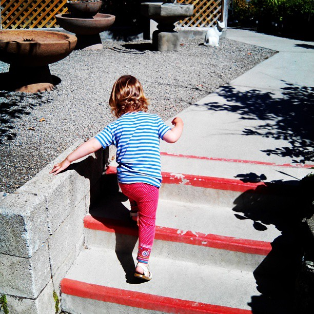 Climbing stairs - from yesterday