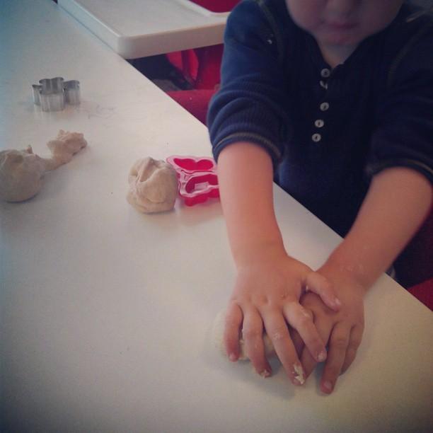 We made some play dough