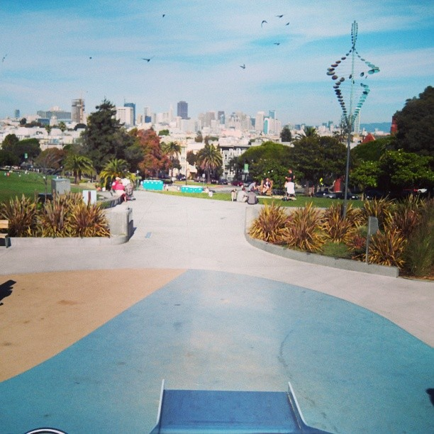 From the top of the slide at Delores park