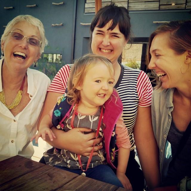 Sunday coffee date with @joanlindsey @ewizabiz @maggielindsey