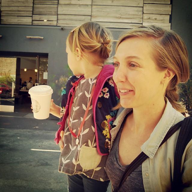 Emma's hair is in a bun!