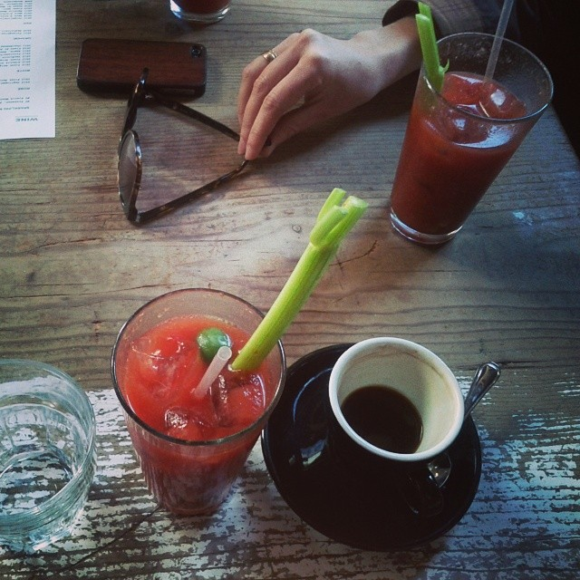 Bloody Mary and espresso kind of brunch