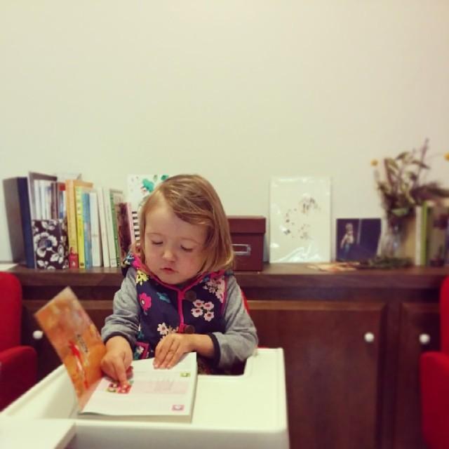 I am so glad that she LOVES books now