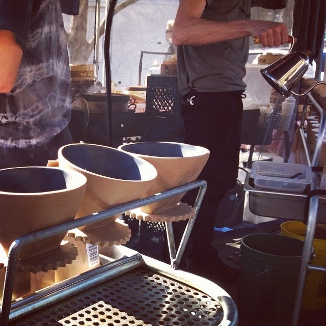 Loved the custom filter holders at Bicycle Coffee Roasters stand at farmers market!