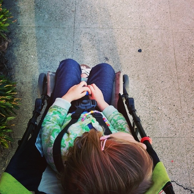 stroller nap (yesterday)