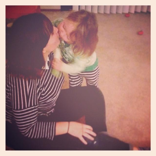 kisses for the birthday girl