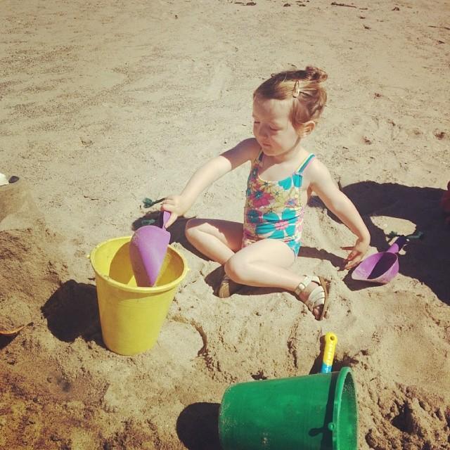 sand play at the beach!