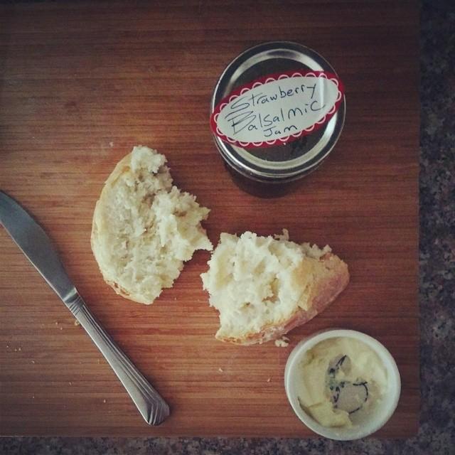 home made bread & jam