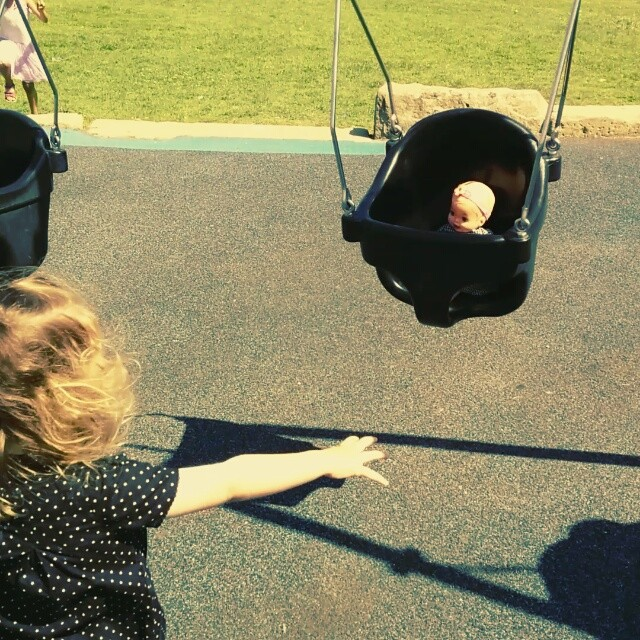 Emma & Henley at the park