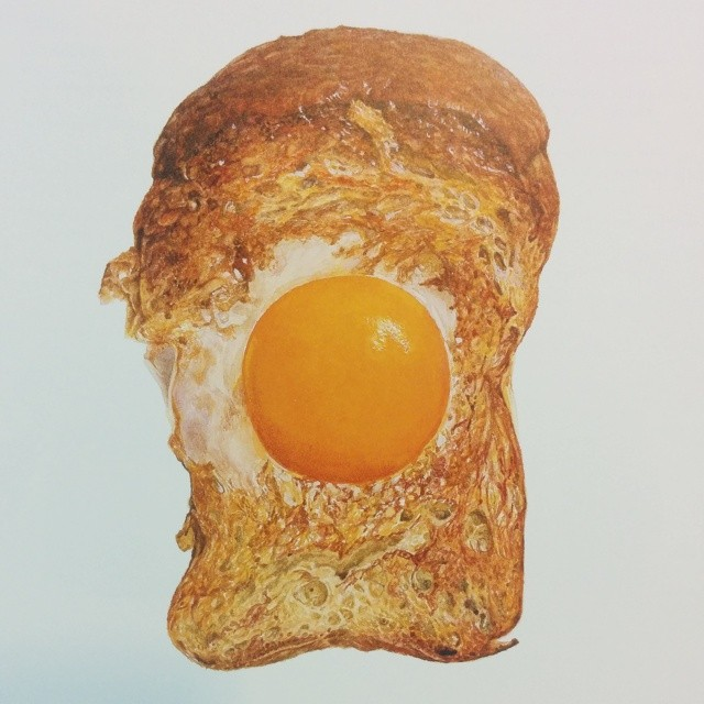 illustrated egg in a hole