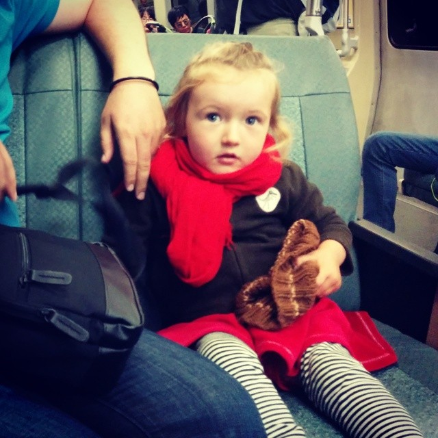 cutest train passenger