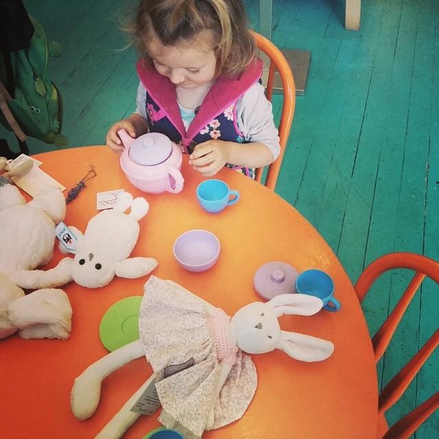 tea party at Ruby's Garden