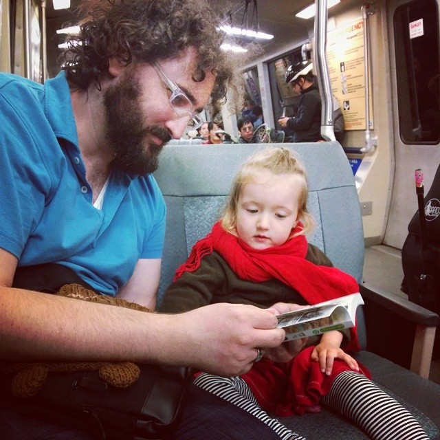 reading Yotsuba on the train