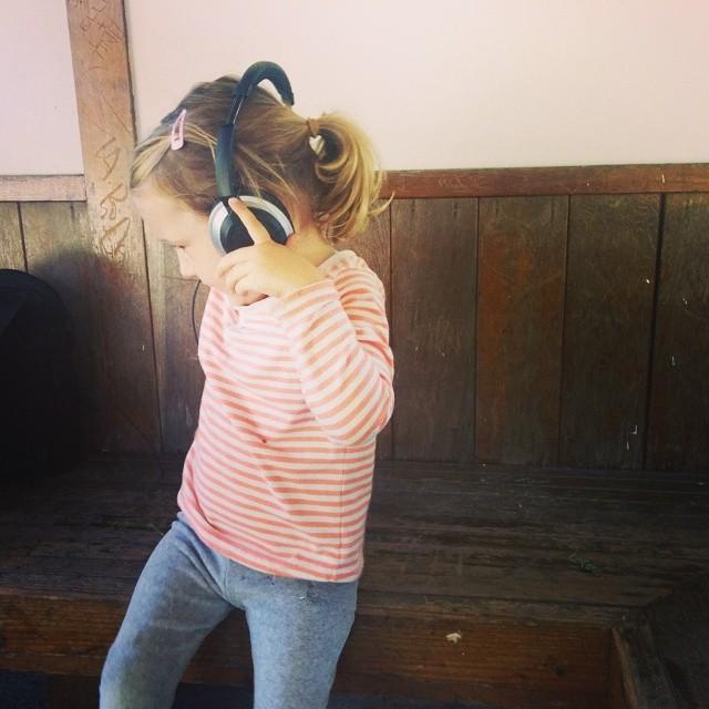cuz she is sooo cute in headphones!