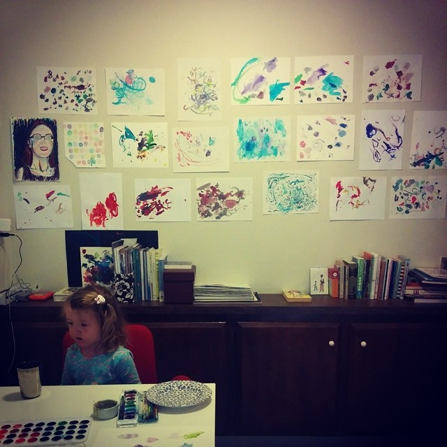 wall of art by the little artist