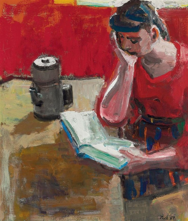 david park -woman reading