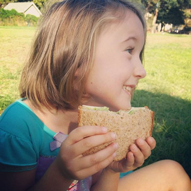 family picnic before music class