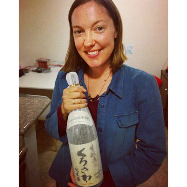My very own sake bottle that will last me well into the new year. ^_^