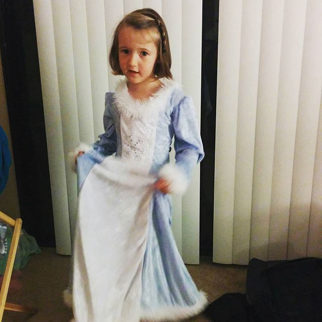 """singing """"Let it Go"""" as Elsa, of course"""