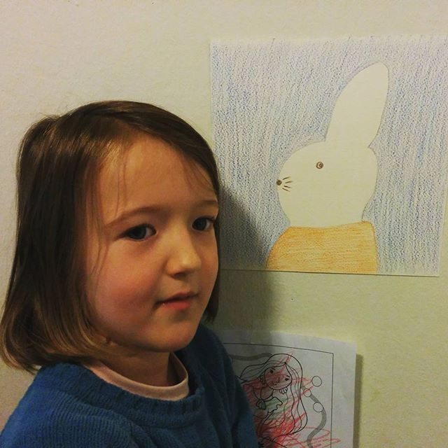 our friend Carlie the rabbit, surely named after Clover's godmother @carliedoucette