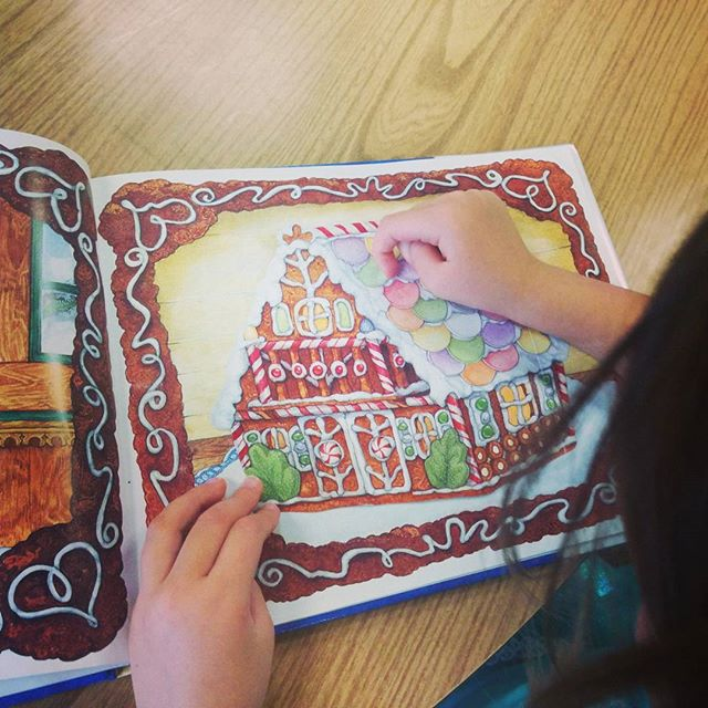 Her favorite holiday book is Gingerbread Baby. We love to make ginger cookies and buy ginger stout cake at Arizimendi in the winter. The best!