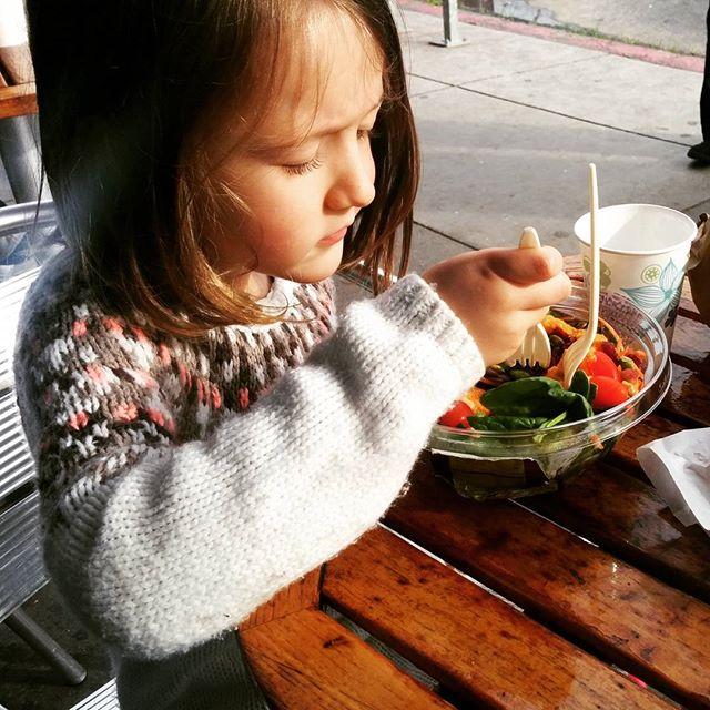 sharing a salad