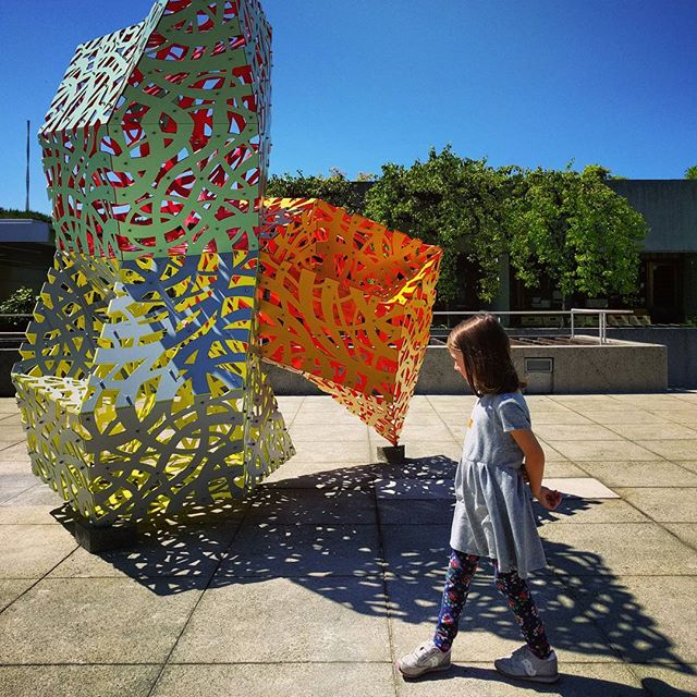 a sculpture called Glimmer by Linda Fleming