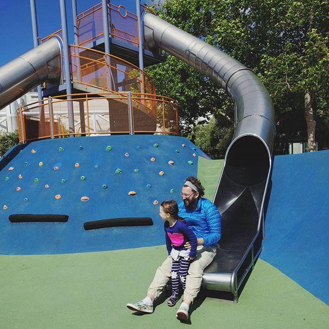 Big slide with papa