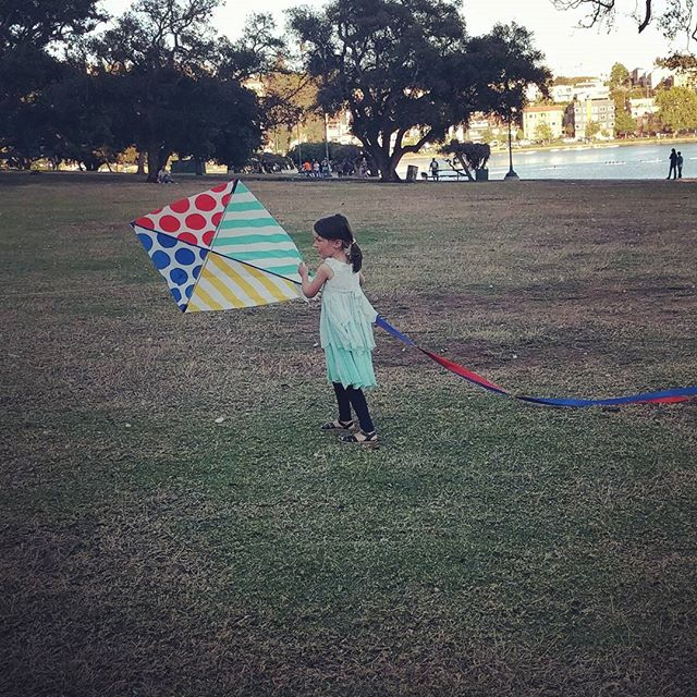 a girl and her kite