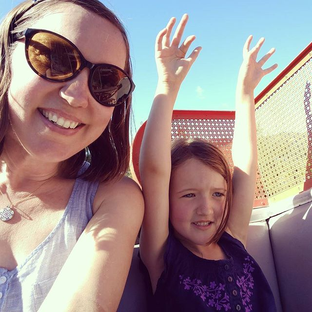 Ferris wheels, roller coasters and train rides with my brave sidekick.