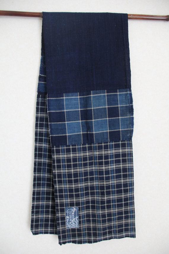 sashiko stitched scarf