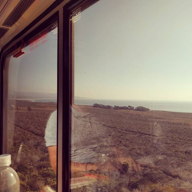 riding Amtrak along the Pacific