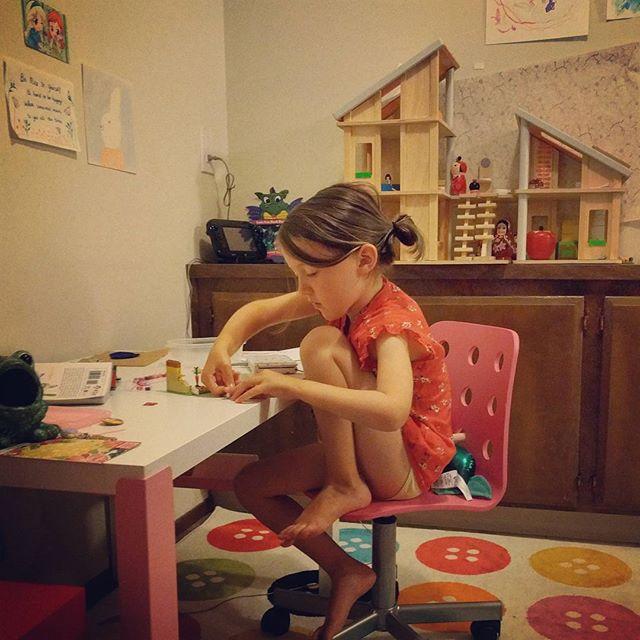 desk and tiny legos
