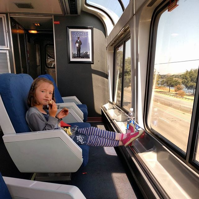 lunch on the Coast Starlight