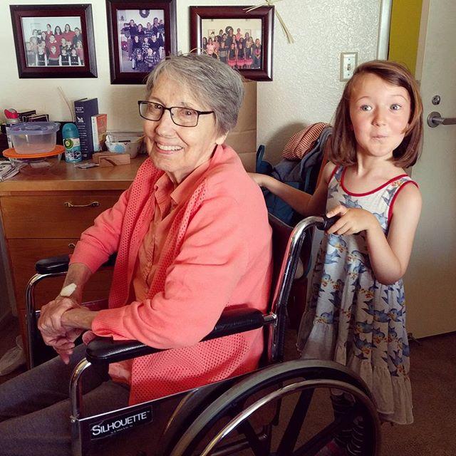 hanging with grandma