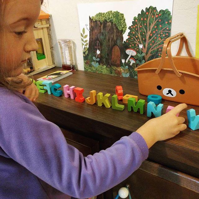 she calls it her alphabet garden