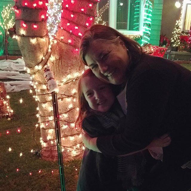 Candy Cane Lane with aunt Elayne