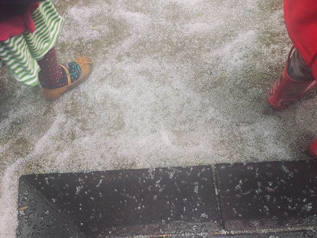 It hailed in Berkeley!