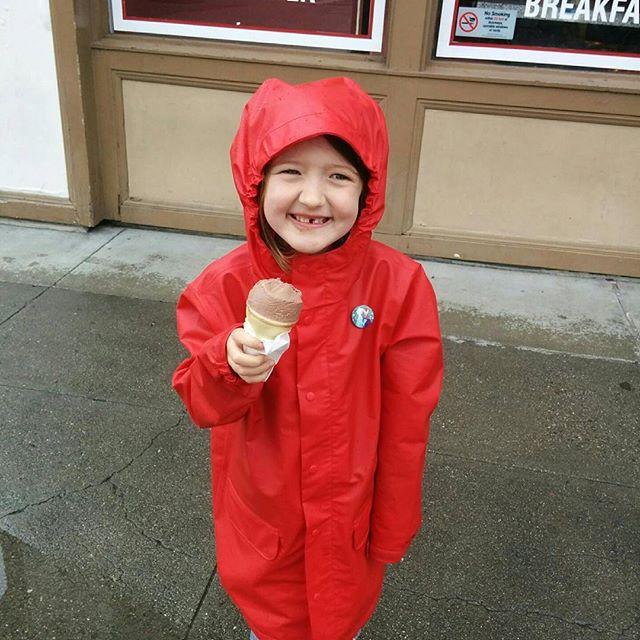 Rainy day ice cream