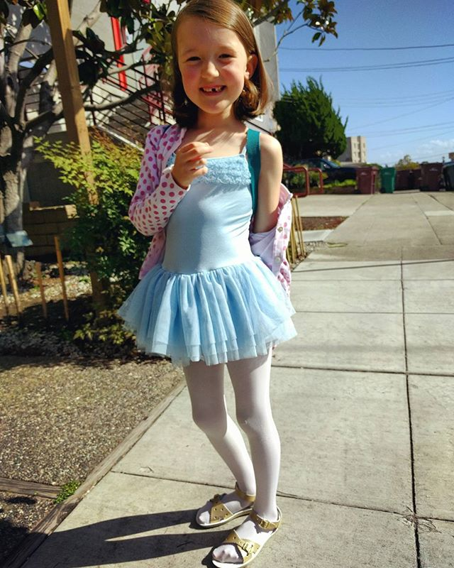 cutie  all ready for ballet